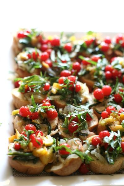 Farm to table bruschetta farms tables and bruschetta for Canape italian shoes