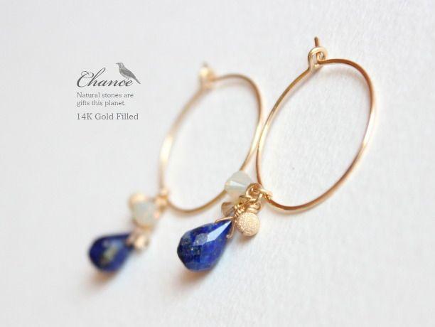minne(ミンネ)| Chance 14KGF ピアス/ラピスラズリAAA