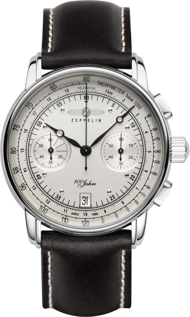 Zeppelin Watch 100 Years Zeppelin #bezel-fixed #bracelet-strap-leather #brand-zeppelin #case-material-steel #case-width-42mm #chronograph-yes #classic #date-yes #delivery-timescale-call-us #dial-colour-silver #gender-mens #movement-quartz-battery #official-stockist-for-zeppelin-watches #packaging-zeppelin-watch-packaging #style-sports #subcat-100-years-zeppelin #supplier-model-no-7670-1 #warranty-zeppelin-official-2-year-guarantee #water-resistant-50m
