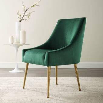Dusek Velvet Upholstered Side Chair in 2020   Velvet ...