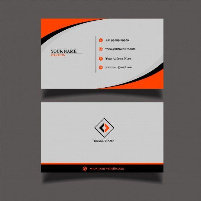 Two Sided Beautiful Black Orange Business Card Template Business Card Template Business Cards Cards