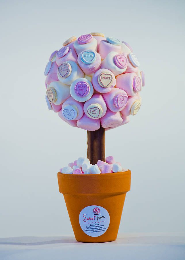 Marshmallow Love Heart Sweet Tree by Rivera