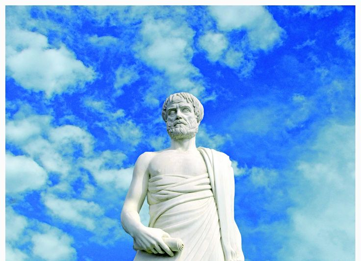 The statue of Aristotle in Stageira - Halkidiki - Greece