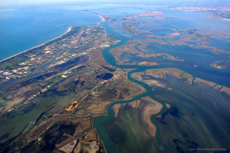 Bellissima foto aerea del litorale di Cavallino e Lio Piccolo di Brunella in Venice