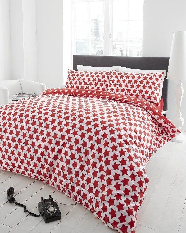 Astra Red Flannelette Duvet Cover Set Single