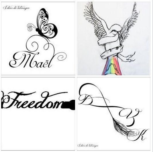 F e arabesque colombe gants de box et infini plumes pour tatouage id es pour la maison - Tatouage signe infini avec prenom ...