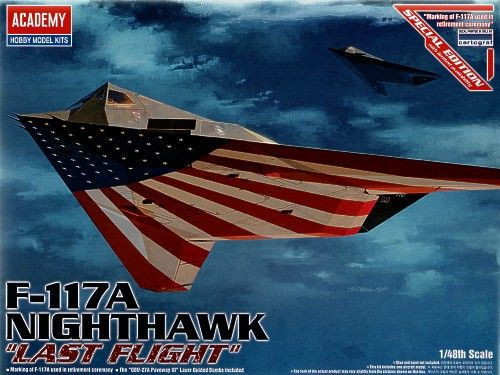 Lockheed F-117A Nighthawk, Last Flight. Academy, 1/48, injection, No.12219. Price: 15,52 GBP.