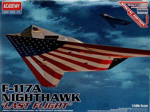 Lockheed F-117A Nighthawk, Last Flight. Academy, 1/48, injection, No.12219. Price: 15,52 GBP.