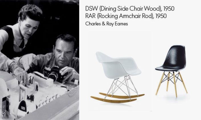 These two modells of the world-famous Plastic Chair series were also honoured with a miniature.