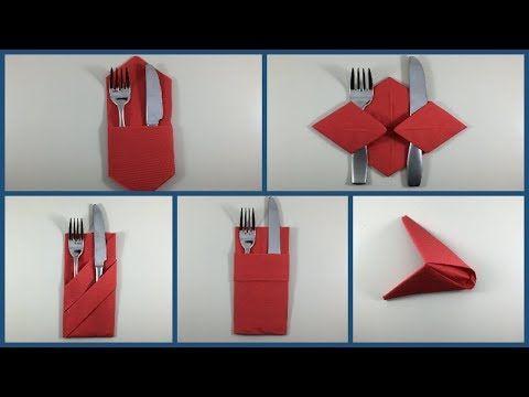 5 Modi Per Piegare Tovaglioli Di Carta Per Natale How To Fold A