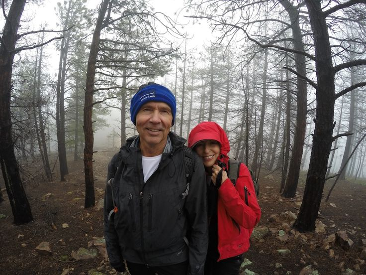 A great shot of Jerry & Kathy in the eerie woods near the summit of South Boulder Peak #Activealumni #Boulder #Colorado #Hiking #Roadshow #SouthBoulderPeak #USA #activeblog