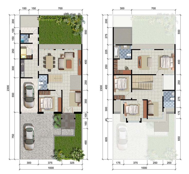 Desain Rumah Surabaya Barat CitraLand - Tipe Turquoise