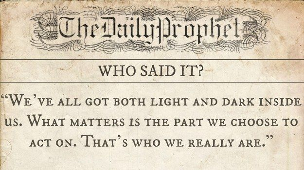 "Who Said It: The ""Harry Potter"" Edition"