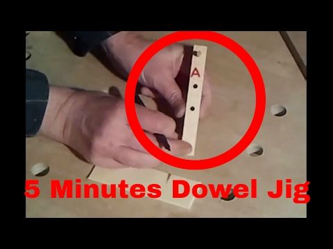 How to make a dowel jig in 5 minutes - YouTube