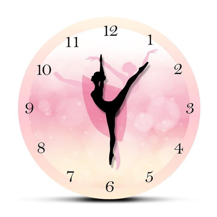 Premium Ballet Clock Everything She Deserves Pink Wall Clocks Girl Bedroom Decor Wall Clock
