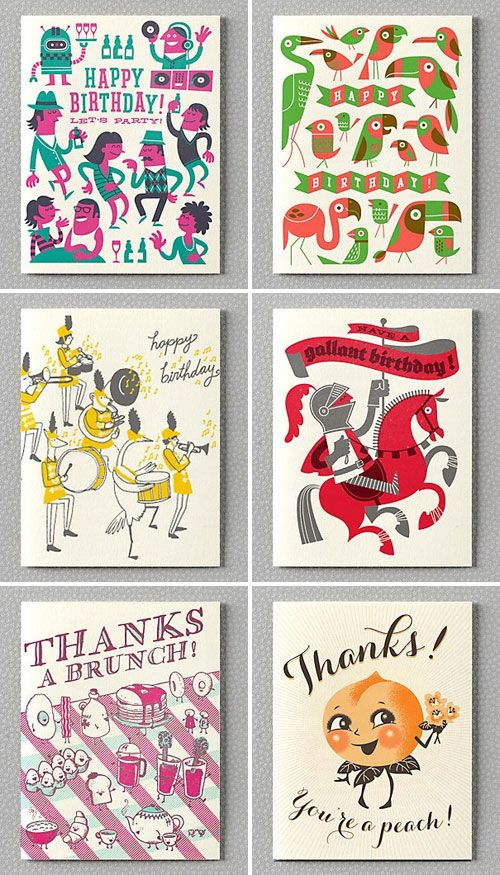 Hello! Lucky Letterpress Cards