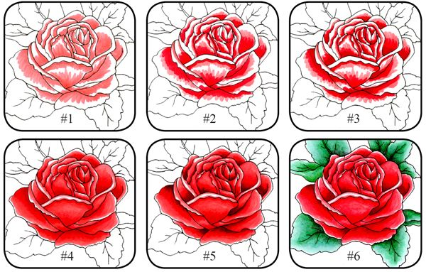colouring flowers: Copic Colors Tutorials, Colour Flowers, Copic Colour, Colorear Flore, Colors Rose, Markers Colors, Copic Markers, Colors Flowers, Colour Specif