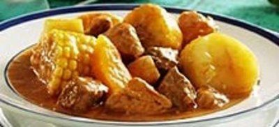 This is a chicken, corn and potato stew. It is the national dish of Columbia - and it's incredibly delicious. If you guys don't love it I'll never set foot in a kitchen again (yeah, right.) Be sure to eat it with good friends – the noises of ecstasy may alarm those who don't know you all that well.
