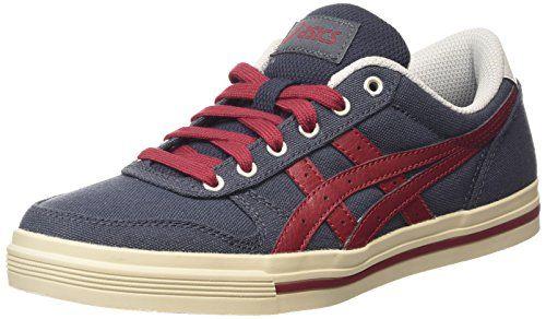 ASICS Aaron, Unisex-Erwachsene Sneakers, Blau (indian Ink/burgundy 5026), 42 EU - http://uhr.haus/asics/asics-aaron-unisex-erwachsene-sneakers-blau-ink
