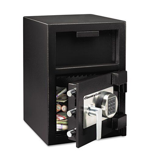 Sentry® Safe - Depository Safe, 1.3 ft3, 14w x 15-3/5d x 24h, Black - Sold As 1 Each - Reduce your chance of being robbed by making frequent deposits in your drop safe container. by Sentry. $409.99. Sentry® Safe - Depository Safe, 1.3 ft3, 14w x 15-3/5d x 24h, BlackReduce your chance of being robbed by making frequent deposits in your drop safe container. Designed with a host of security features including hardened steel lock plate, programmable electronic locks, anti-fis...