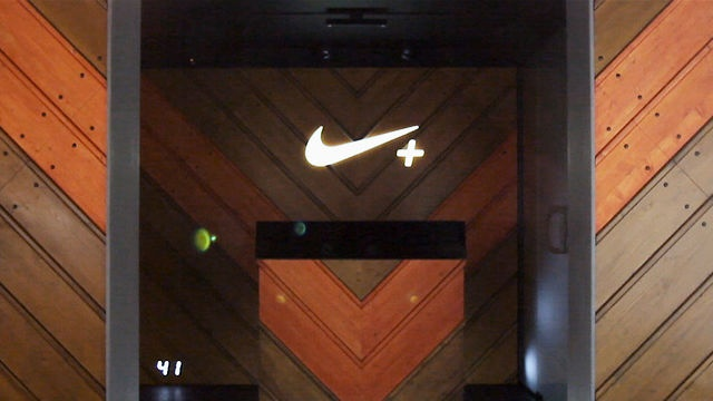 Nike + FuelStation by Us. Nike opens the world's first ever Nike+ FuelStation at Boxpark London - a retail space like no other designed for today's digitally enabled athlete. We were asked by AKQA to create a piece that would create an excitement and buzz around the opening of the store.
