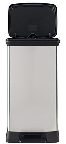 Curver 187152 Poubelle à pédale plastique Argent 50 L: Price:39.99Poubelle rectangle 50L a pédale – Pliante – Large systeme stable…