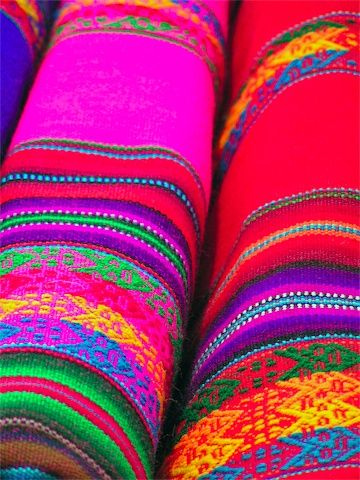Beautiful rainbow colored carpets these would make such a for Bright vibrant colors