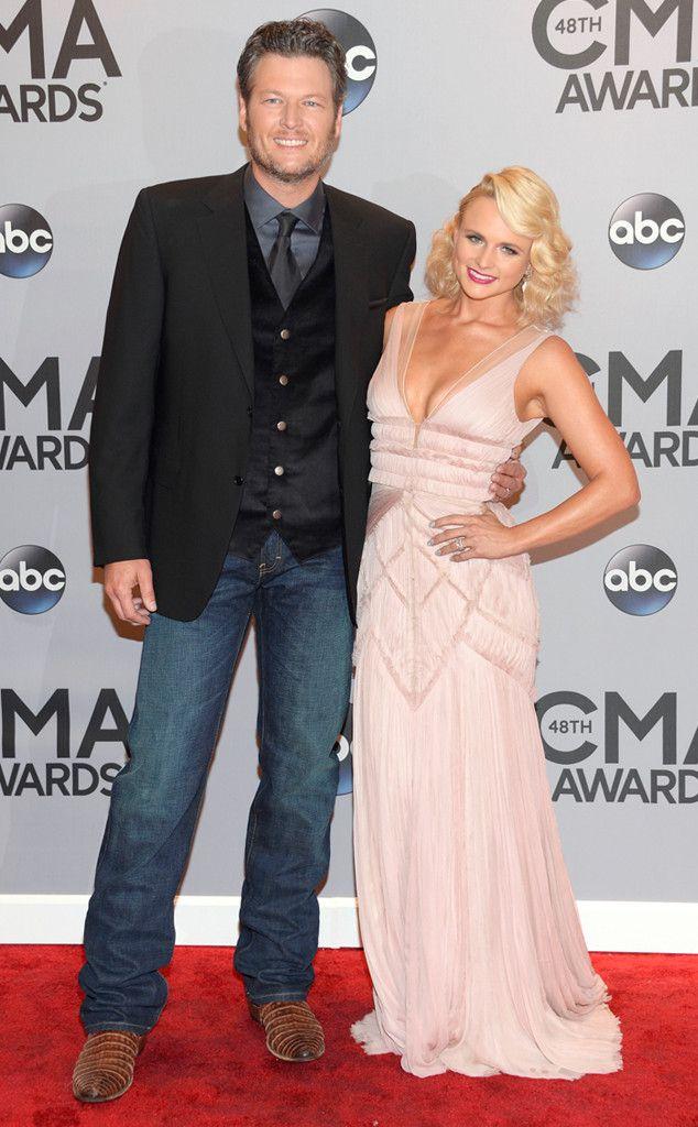 Blake Shelton and Miranda Lambert look like true country music royalty on the CMA 2014 red carpet!