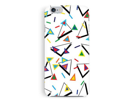 90s iPhone 6 case, 90s Phone case, iPhone 6 case, colourful iphone 6 case, Triangle print, 90s grunge, 90s Shapes print, Trendy phone case