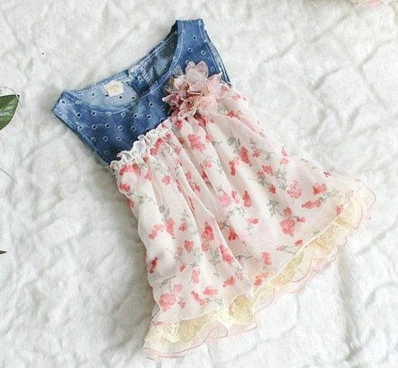Hey, I found this really awesome Etsy listing at https://www.etsy.com/listing/225778178/infant-denim-floral-dress-infant-spring