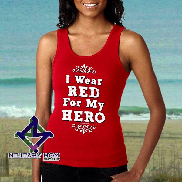 Red Friday Tank Top Shirts! <3 MilitaryMomShop.us  #Marines #MarineShirts