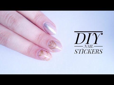 DIY nail stickers   Πως να φτιάξεις αυτοκόλλητα νυχιών - YouTube