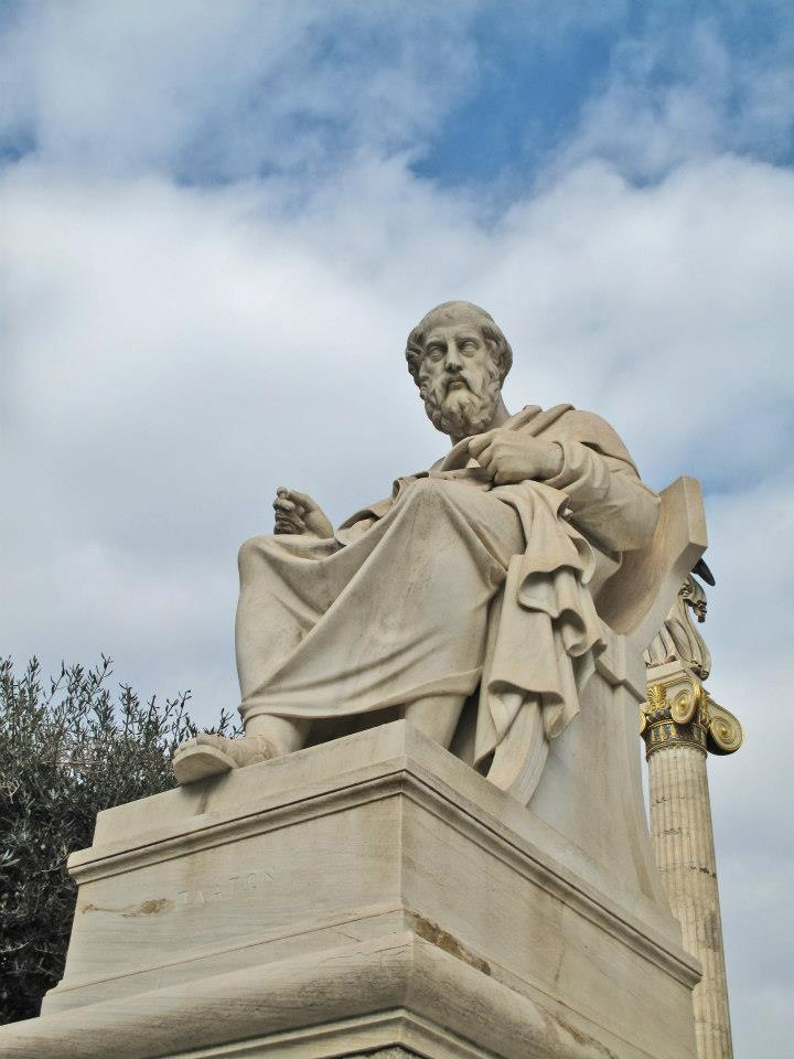Plato, the great philosopher in Classical Greece (statue at the Academy of Athens)