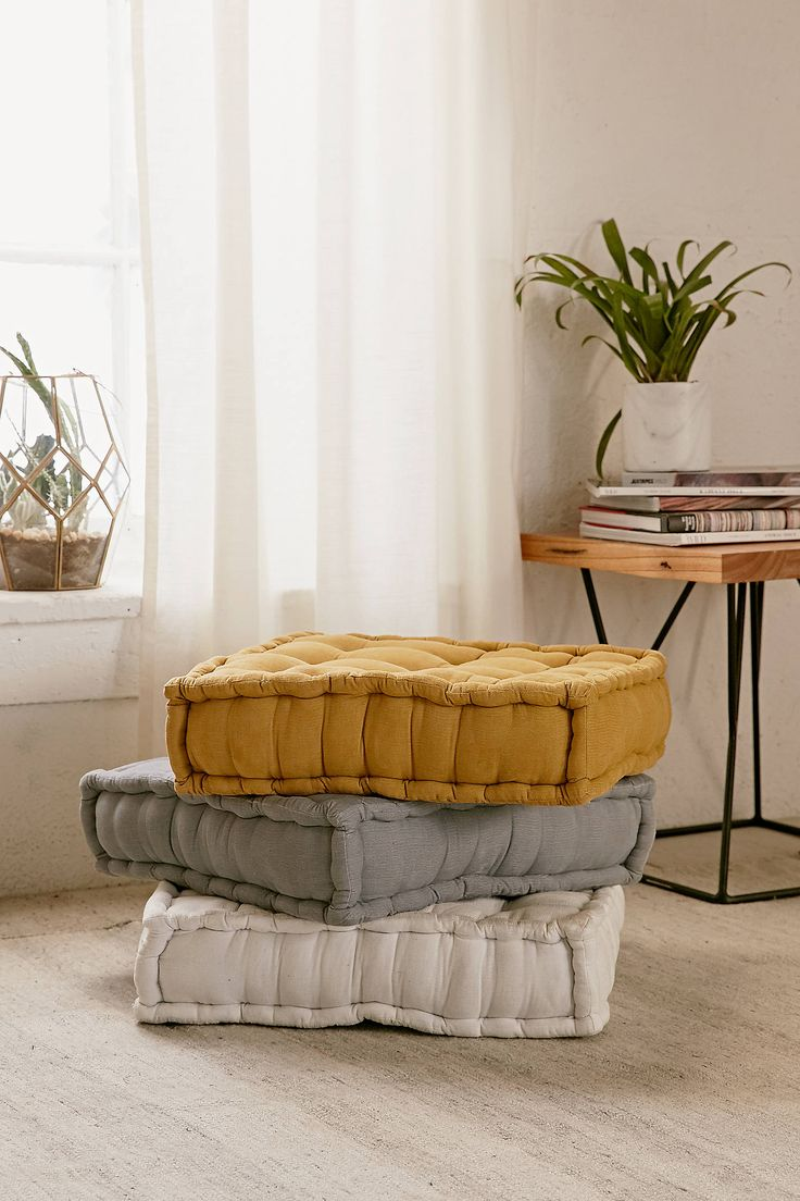 Slide View: 1: Tufted Corduroy Floor Pillow Design Inspirations
