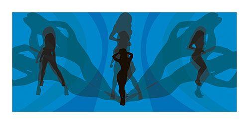 #Poster #Kunstdruck Fine #Art #Print Chao Zhang Disco #Girls Twenty Four #Gallery #illustration #artprint #twentyfourgallery #chaozhang