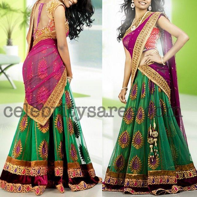 Designer Half Saree. wish the bottom was plain w/the border
