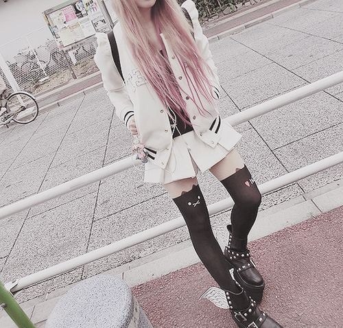 Cute pastel goth style                                                                                                                                                                                 More