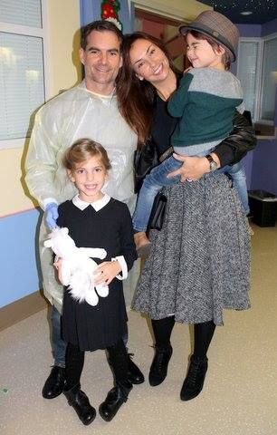 Jeff Gordon and his beautiful family at the Jeff Gordon's Children's Hospital