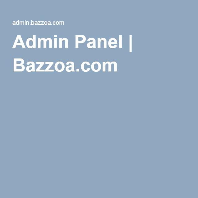 Admin Panel | Bazzoa.com