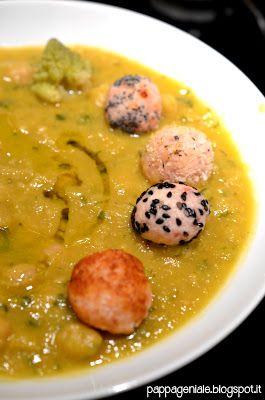 Zuppaccia di ceci e broccoli (con le mie polpettine al prosciutto) - Pappa Geniale
