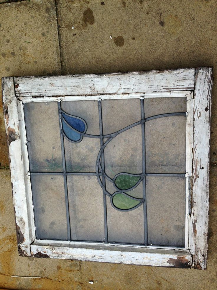 Gypsy Interior Design Dress My Wagon| RV Design Inspiration-Salvaged Stained Glass Window Panel-STAINED GLASS WINDOW