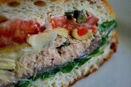 Tuna Nicoise Picnic Sandwich | Delicious morsels | Pinterest