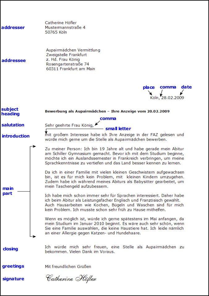 Toms Deutschseite - Schreiben: Formeller Brief