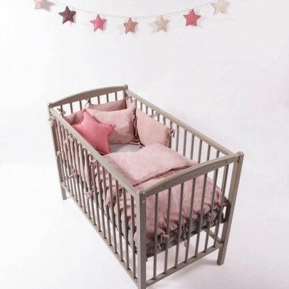 Babybett - lackiert Hellgrau  Combelle