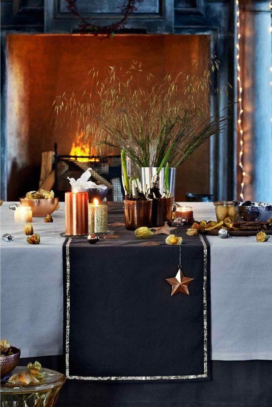 Navidad de tendencia en tonos cobrizos | Decoración