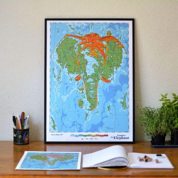 Elephantidae  Land of the Elephant by DauDaw on Etsy