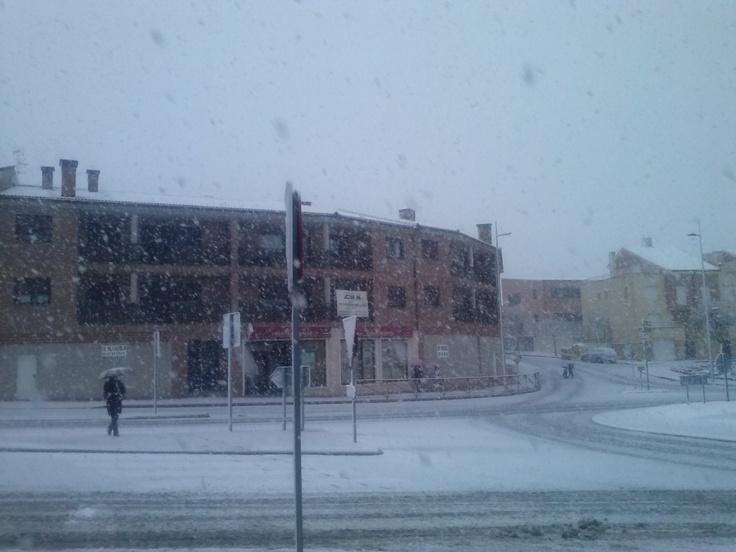 Nevada día 29 de Abril. La Lastrilla (Segovia)