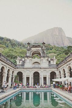 Seems like a real film set. Lovely setting! Lage Park, Rio de Janeiro, Brazil. SUBSCRIBE: https://goachi.leadpages.net/travel-magazine/