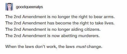 """I'm not gonna say """"BAN GUNS COMPLETELY"""" bc that's not working but restrictions for once would be nice"""