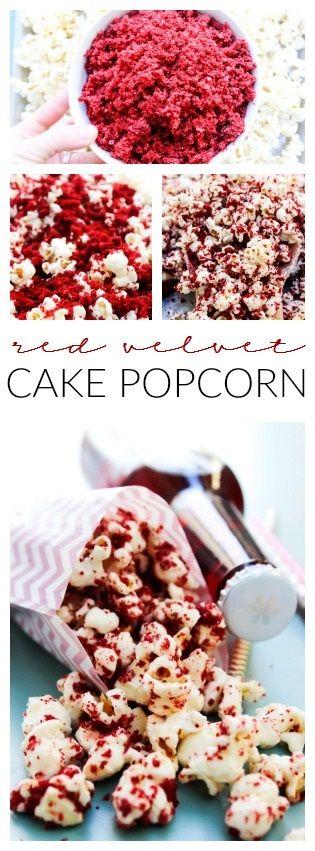 Red Velvet Cake Popcorn #ad #DataAndAMovie